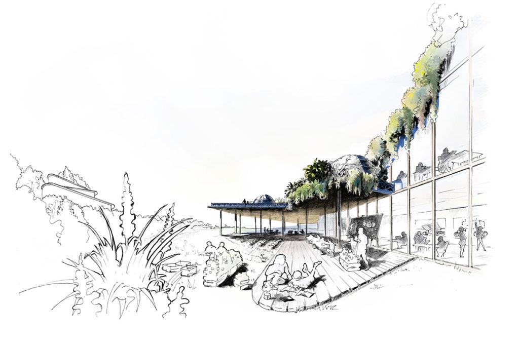 Illustration-ein-moderner-Bildungsort