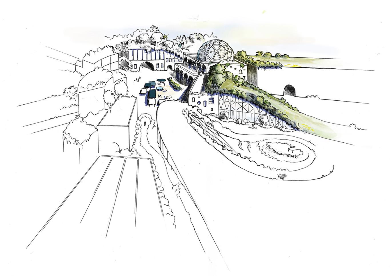 Illustration-Eine-Vitale-Dorfmitte